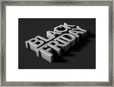 Text On Black Framed Print by Allan Swart