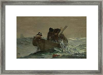 The Herring Net Framed Print by Winslow Homer