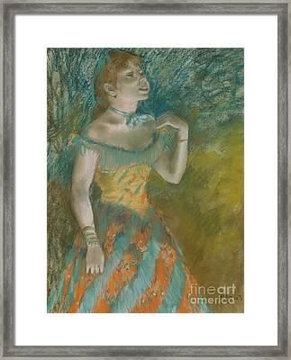 The Singer In Green Framed Print by Edgar Degas
