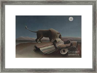 The Sleeping Gypsy Framed Print
