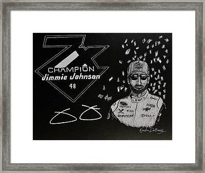 7 Time Champion Framed Print by Kendra DeBerry