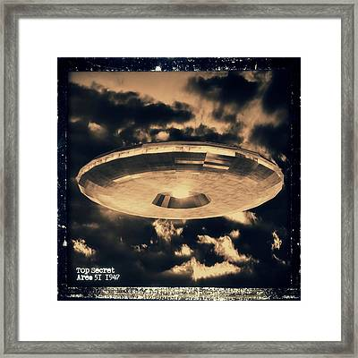 Top Secret Area 51 By Raphael Terra Framed Print