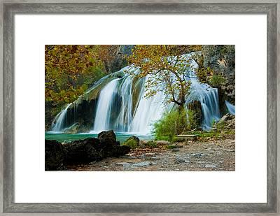 Turner Falls Framed Print by Iris Greenwell