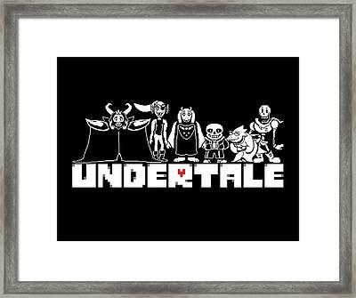 Undertale Framed Print by Rene Gut
