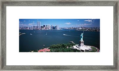 Usa, New York, Statue Of Liberty Framed Print