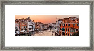 Framed Print featuring the photograph Venice Grand Canal Sunset by Songquan Deng