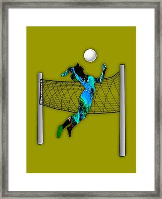 Vollyball Collection Framed Print by Marvin Blaine