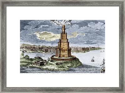 7 Wonders Of The World, Lighthouse Framed Print