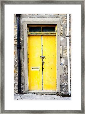 Yellow Door Framed Print by Tom Gowanlock
