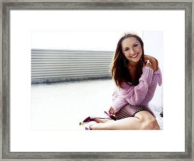 70 Celebrity Amanda Bynes  Framed Print