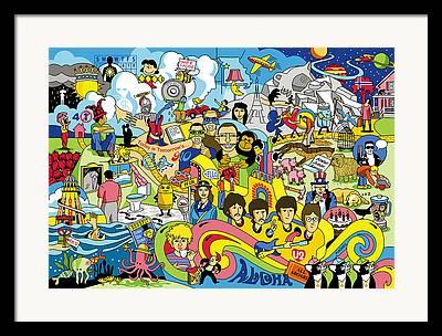 Ringo Digital Art Framed Prints
