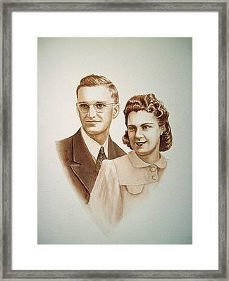 70 Years Together Framed Print by Irina Sztukowski