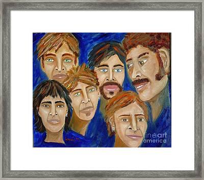 70s Band Reunion Framed Print