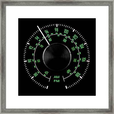 70s Fm Tuner Dial Framed Print
