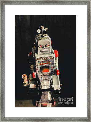 70s Mechanical Android Bot  Framed Print