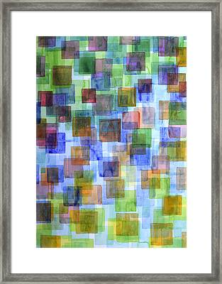 Squares In All The Colors Of The Rainbow Framed Print