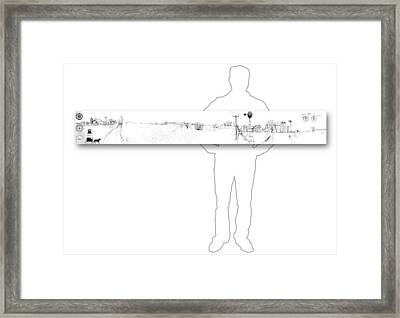 7.1.usa-1-horizontal-with-figure Framed Print by Charlie Szoradi