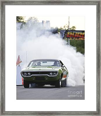 '72 Roadrunner Burn Out Framed Print