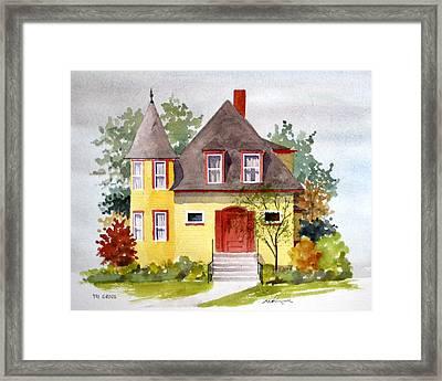 721 Grove Ave Framed Print by William Renzulli
