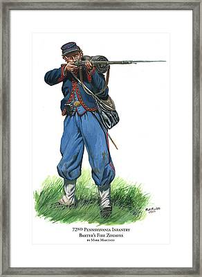 72nd Pennsylvania Infantry - Baxter's Fire Zouaves  Framed Print