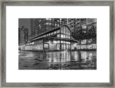 72nd Street Subway Station Bw Framed Print