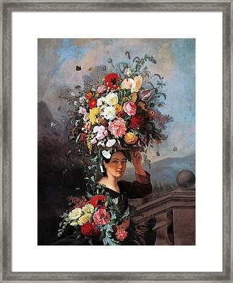 The Gardner Girl Framed Print by Simon Saint Jean