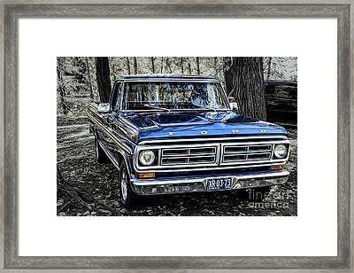 Framed Print featuring the photograph 73 Ford Pickup by Brad Allen Fine Art