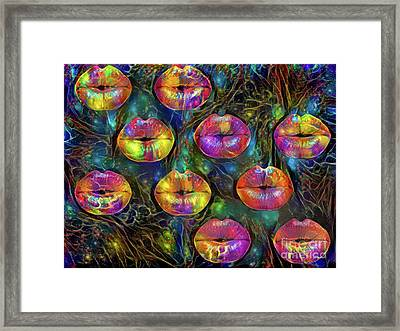 Kissing Lips Framed Print
