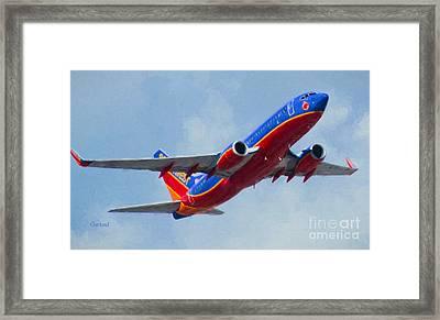 737 In Flight.  Framed Print by Garland Johnson