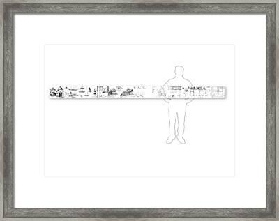 7.39.usa-10-horizontal-with-figure Framed Print