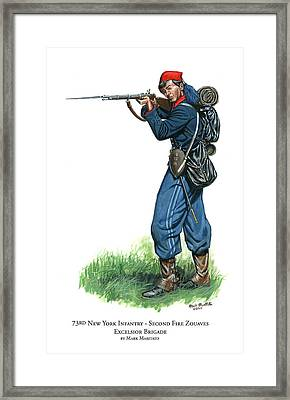 73rd New York Infantry - Second Fire Zouaves - Excelsior Brigade Framed Print