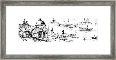 7.40.usa-10-detail-a Framed Print
