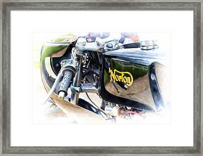 750 Commando Cafe Racer Framed Print