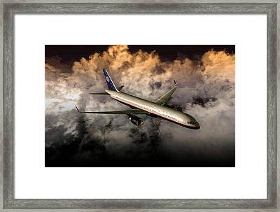 Framed Print featuring the digital art 757 Ual 05 by Mike Ray