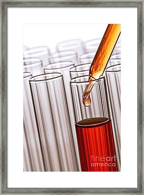 Laboratory Experiment In Science Research Lab Framed Print by Olivier Le Queinec