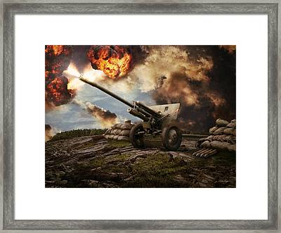 76 Mm Divisional Gun Wwii Artillery Framed Print by Anton Egorov