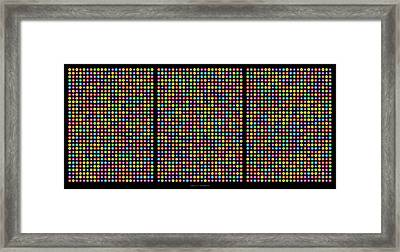 768 Digits Of Pi Up To Feynman Point, E And Phi Framed Print by Martin Krzywinski