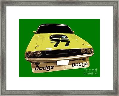 77 Yellow Dodge Framed Print