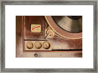 Framed Print featuring the photograph 78 Rpm And Accessories by Gary Slawsky
