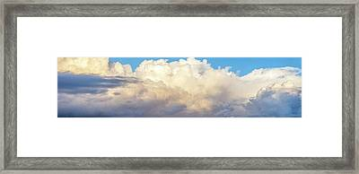 Framed Print featuring the photograph Clouds by Les Cunliffe