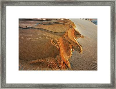 Silver Lake Sand Dunes Framed Print by Dean Pennala