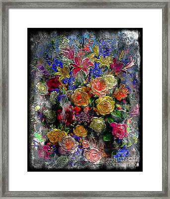 7a Abstract Floral Painting Digital Expressionism Framed Print