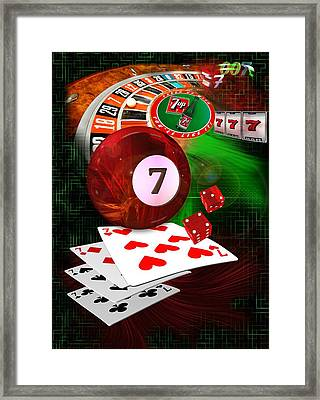 7's Up Framed Print by Draw Shots