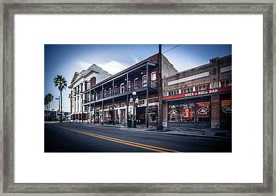 7th Ave Rock N Roll Bar Framed Print by Ybor Photography