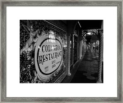 7th Ave Ybor City Framed Print by David Lee Thompson