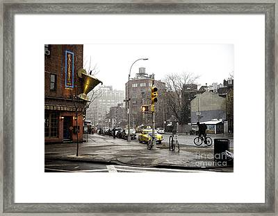 7th Avenue Moment Framed Print by John Rizzuto