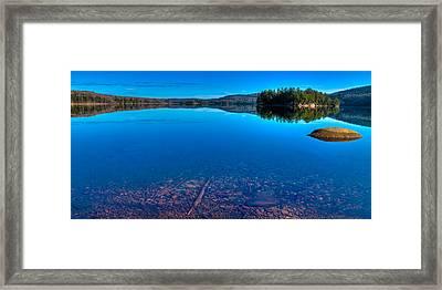 7th Lake Panorama Framed Print by David Patterson