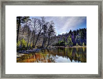 7th Lake Reflections Framed Print by David Patterson