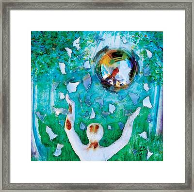 7th Step Framed Print by Lucinda Blackstone