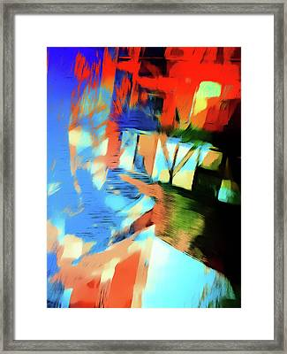 Abstract Painting Framed Print by Tom Gowanlock